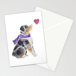 Watercolour Australian Shepherd (merle) Stationery Cards