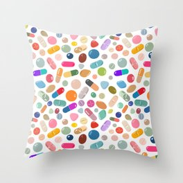 Unicorn Pills Light Throw Pillow