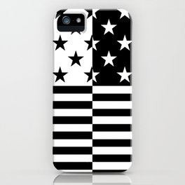 HIPSTERS (BLACK-WHITE) iPhone Case