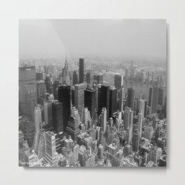 New York City Black and White Metal Print
