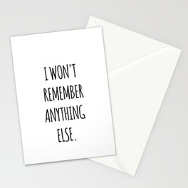 Lesbian quote Stationery Cards