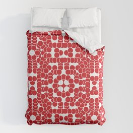 Red Flower Circle Pattern Comforters