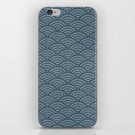 Blue Indigo Denim Seigaiha Sea Wave Nautical Minimalist iPhone Skin