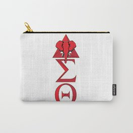Elephant Delta Triangle Sigma Red Theta Carry-All Pouch