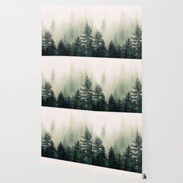 Foggy Pine Trees Wallpaper