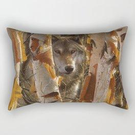 Wolf - The Guardian Rectangular Pillow
