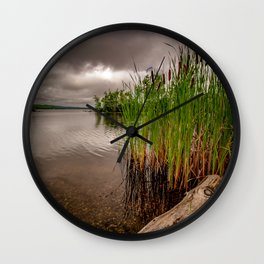 Driftwood And Cattails Wall Clock