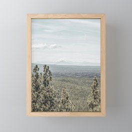 True Grain // Gritty Desaturated Detail of the Oregon Coast Mountains and Woods Framed Mini Art Print