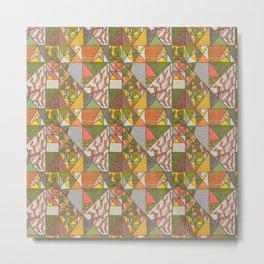Geometric Flowering Cacti - Art by Jen Montgomery Metal Print