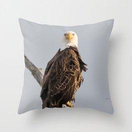 April Eagle Throw Pillow