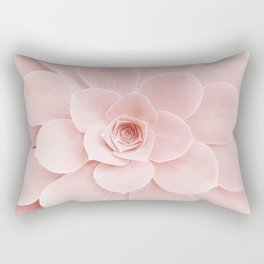 Blush Succulent Rectangular Pillow