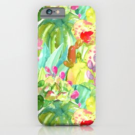 Lush Cacti Jungle iPhone Case
