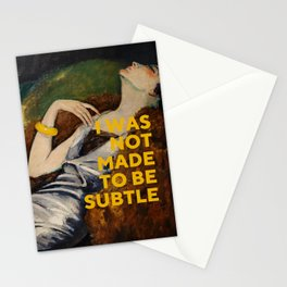 I Was Not Made to Be Subtle, Feminist Stationery Cards