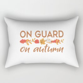 On Guard On Autumn Rectangular Pillow