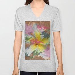 Flowers 9 DF Unisex V-Neck