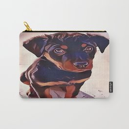 Rottweiler Puppy Born To Be Wild Carry-All Pouch