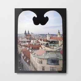 Window to Prague Metal Print