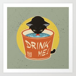 Drink water well Art Print