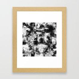 Black and White Tie Dye & Batik Framed Art Print