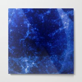 Sapphire Metal Print