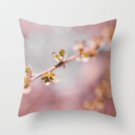pink blossom 3 Throw Pillow