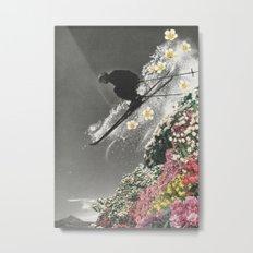 Spring Skiing Metal Print