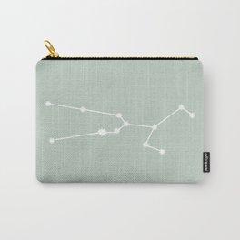 Taurus Zodiac Constellation - Sage Carry-All Pouch