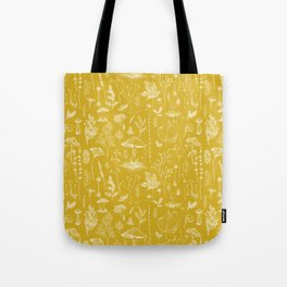 Woodland Walk / Mustard Tote Bag
