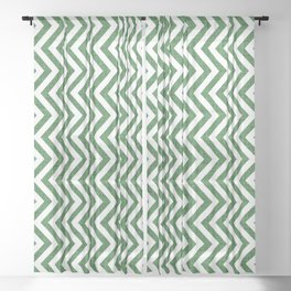 Canadian Wildlife Chevron Emerald Sheer Curtain