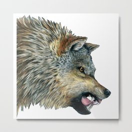 Mad Wolf Metal Print