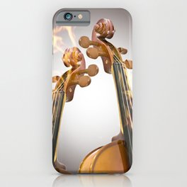 Burning two violin iPhone Case