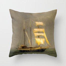 Sailing Ship In A Storm Throw Pillow