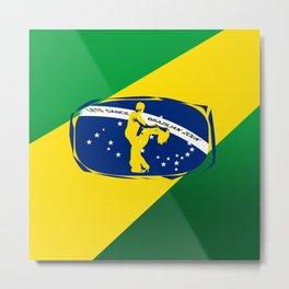 lets dance brazilian zouk flag design Metal Print