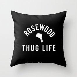 Rosewood Thug Life Throw Pillow