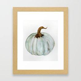Blue-Gray Cinderella Pumpkin - Watercolor  Framed Art Print