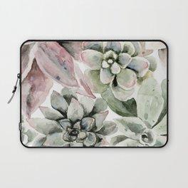 Circular Succulent Watercolor Laptop Sleeve