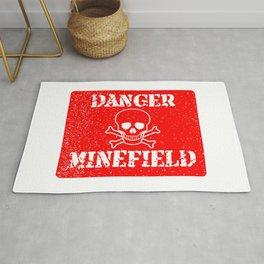 Danger Minefield Rug