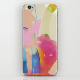 the window to my garden - minimal color abstract modern art iPhone Skin