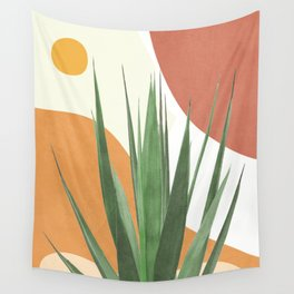 Abstract Agave Plant Wall Tapestry