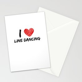 I Love Line Dancing Stationery Cards
