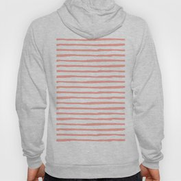 Pink Drawn Stripes Hoody