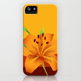 Orange Tiger Lily iPhone Case