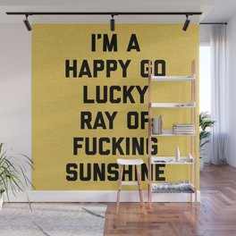 Ray Of Fucking Sunshine Funny Quote Wall Mural