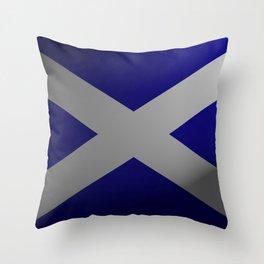 Scottish Flag With Spotlight Throw Pillow