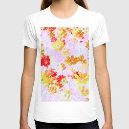 Flowers Garden Cosmos Orange T-shirt