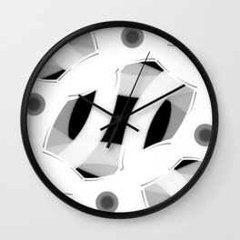 JD - white lines on black Wall Clock