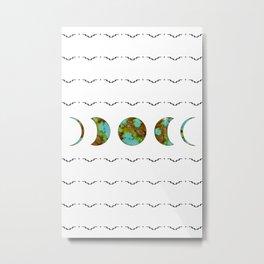 Aztec Moon Metal Print