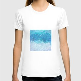 Abstract textured Teal blue Art T-shirt