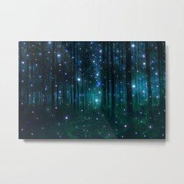 Glowing Space Woods Metal Print