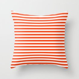 Florida fan gators university orange and blue team spirit football college sports stripes Throw Pillow